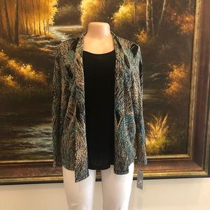JM collections blouse with cardigan